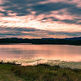 Lake Manchester Sunset by Sarah Sullivan - Novices Only Landscapes