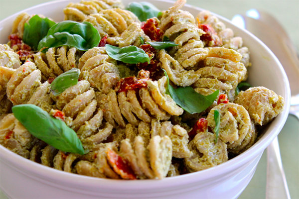 creamy pea and artichoke pesto pasta salad recipes dishmaps creamy pea ...