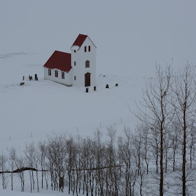 Icelandic Church by VAM Photography - Landscapes Weather ( iceland, church, snow, weather, architecture, travel,  )