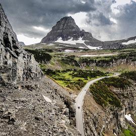 Road to Logan Pass by Richard Michael Lingo - Landscapes Mountains & Hills ( mountains, road, logan pass, montana, landscape )
