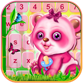 Free Download Cute Pink Baby Panda Keyboard Themes APK for Samsung