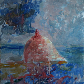 Altar by To Mi - Painting All Painting ( seascape, mermaid, altar, oil, pagan, mythic, painting, breast nipple, erotic )