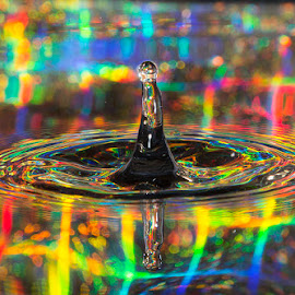 by Chris Duffy - Abstract Water Drops & Splashes ( colour, water, abstract, water drops, color, colorful, abstract art )