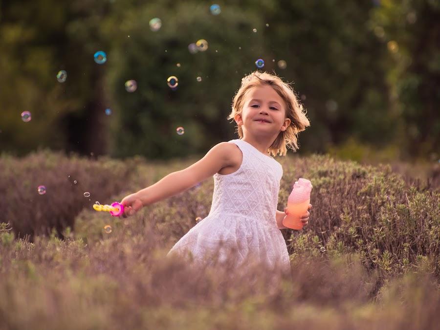 Princess Bubbles by Sarah Sullivan - Babies & Children Children Candids ( #bubbles, #garden, #lavender, #sarahsullivanphotography )