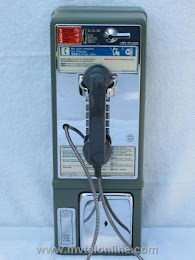 Single Slot Payphones - NY Tel Green  Queens loc D-1 1