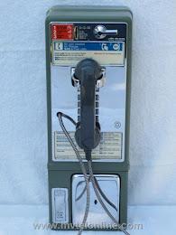 Single Slot Payphones - NY Tel Green  Queens loc D-1 1