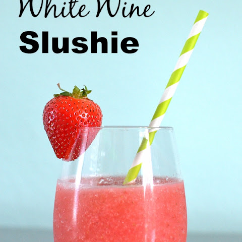 Strawberry White Wine Slushie