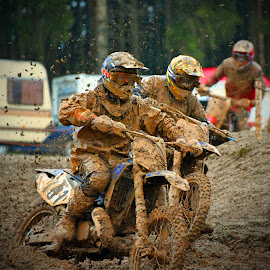I Love Mud! by Marco Bertamé - Sports & Fitness Motorsports ( mud, bike, rainy, motocross, fight, clumps, motorcycle, duel, race, close, competition,  )