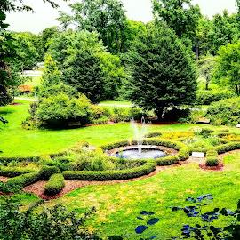 Butterfly Garden Fountain Overlook 2018 by Melissa Bernal - City,  Street & Park  Fountains ( gardens, butterflygarden, waterfountain, park )