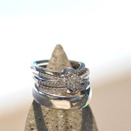 Spiked rings by Laurette van der Merwe - Wedding Details ( wedding photography, weddings, silver, wedding rings, wedding details )
