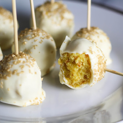 New Year's Lemon Cake Pops