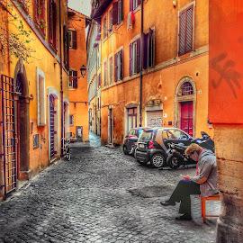 by Johana Starova - City,  Street & Park  Street Scenes