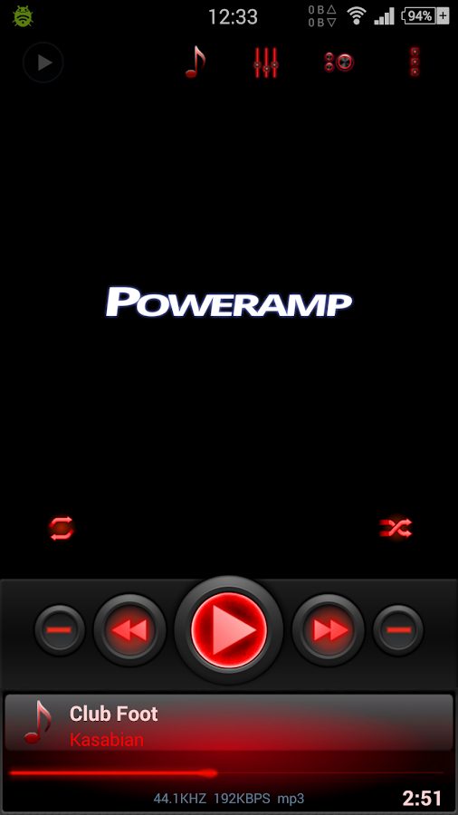 Mad Jelly Red - Poweramp Skin Screenshot 0