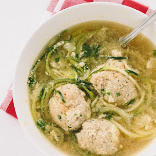 Italian Wedding Soup with Zucchini Noodles