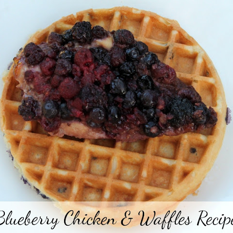 Blueberry Chicken & Waffles