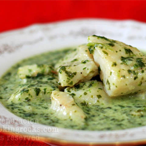 Cream Dory with Creamy-Spinach Sauce