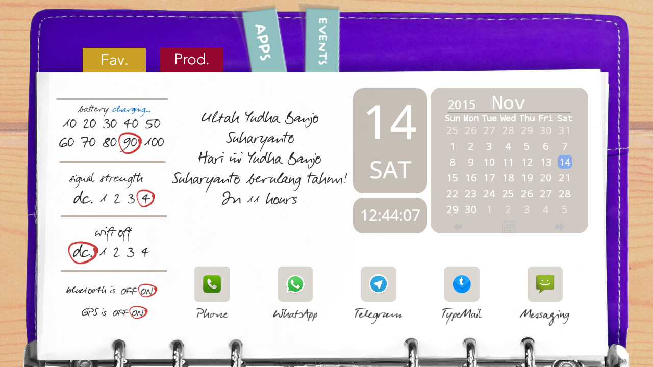 Agenda Purple Theme for TL Screenshot 2