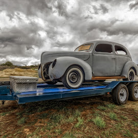 1940 Ford by Kirk Kimble - Transportation Automobiles ( jalopy, automobile, gray, ford, antique, classic )