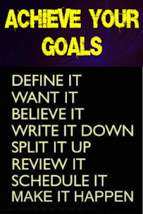 How to Achieve Your Goals- screenshot thumbnail