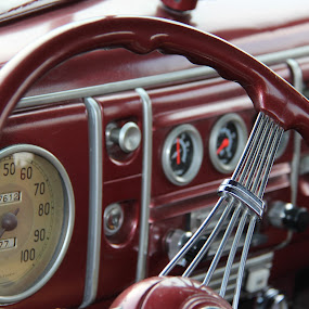 Red Interior by Rusty Jhorn - Transportation Automobiles ( car, red, vintage,  )