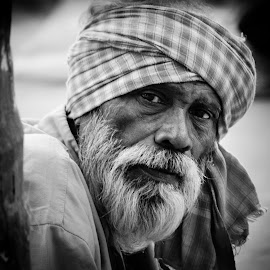 A Faqir by Prasanta Das - People Portraits of Men ( muslim, faqir, portrait, tu rban )