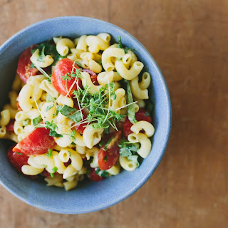 Herby Tomato Pasta Salad With Mustard Vinaigrette