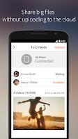 Screenshot of Sunshine - large file sharing