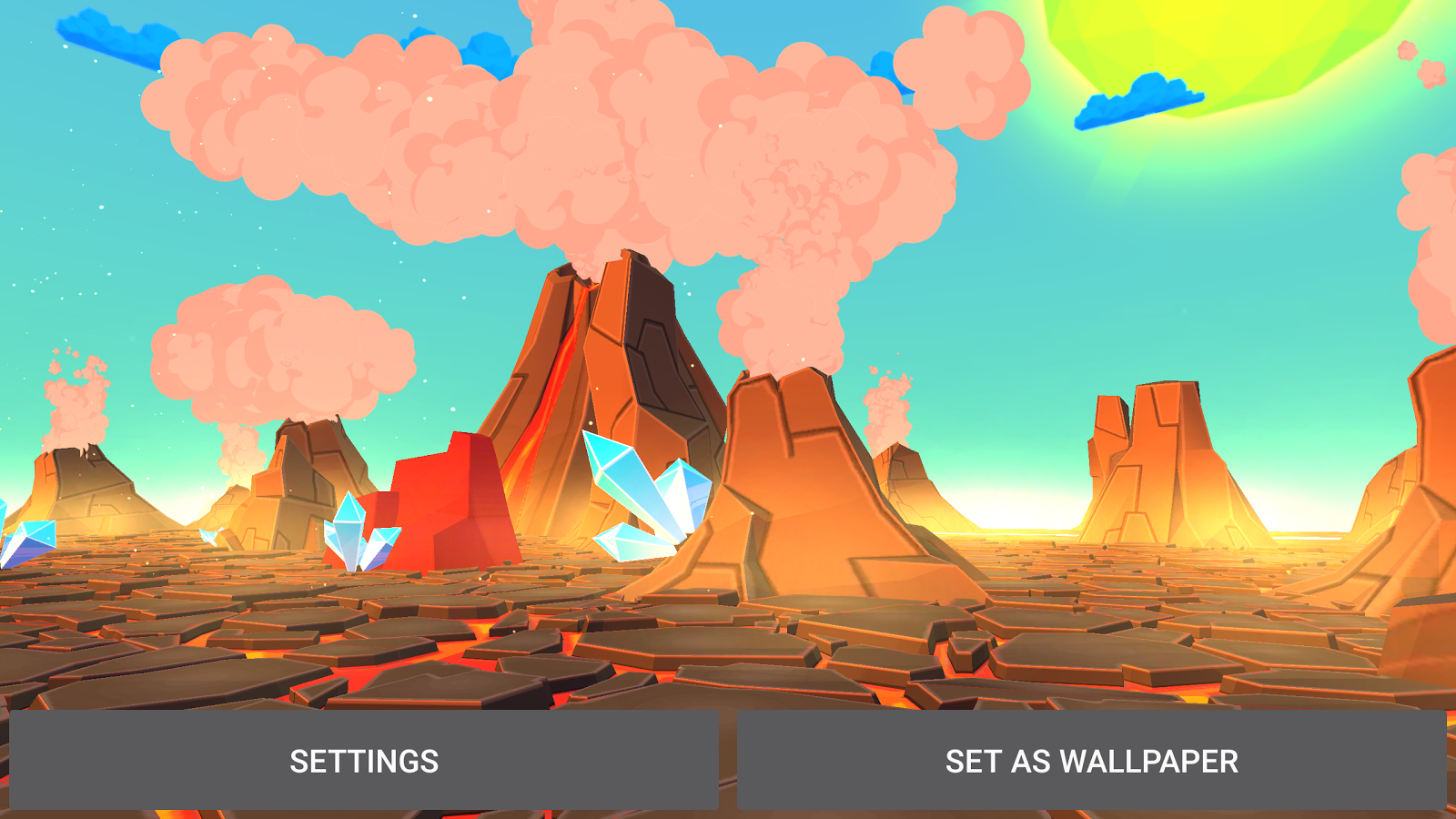 Volcano 3D Live Wallpaper Screenshot 12