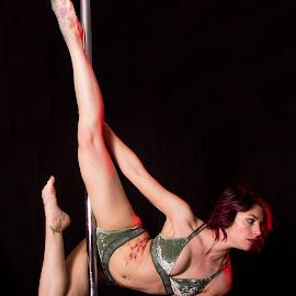 Jenna Pole by Kyle Olson - Sports & Fitness Fitness ( canon, black background, athletics, fitness, pole dance,  )