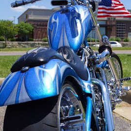 Lots of Blue by Rob Hallifax - Transportation Motorcycles ( #motorcycle, #blue, #livetoride, #allthingsblue, #motorcycles,  )