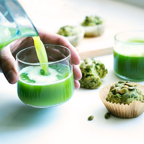 Green Juice and Pulp Muffins