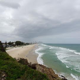 Miami to Surfers Paradise, Australia by Di Mc - Landscapes Beaches ( sand, gold coast, surfers paradise, miami, australia, ocean, beach, surf, white sand )