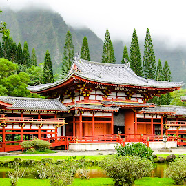 Valley of the Temples by Shari Linger - Buildings & Architecture Places of Worship ( temples, valley of the temples, tropical, buddhist, japanese, architecture, hawaii, oahu )