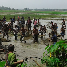Fish Finding from mud by Md Zakir Hossain - People Family ( joy, fish, enjoy, natural, people )