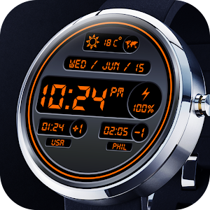 Digital World Time Watch Face