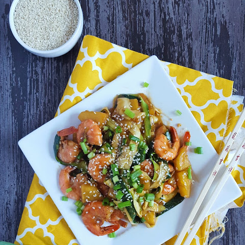 Teriyaki Pineapple Shrimp & Zucchini Ribbons
