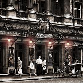 PHANTOM of the OPERA by Roni Bit - City,  Street & Park  Skylines ( london, opera, serenity, blue, mood, factory, charity, autism, light, awareness, lighting, bulbs, LIUB, april 2nd )