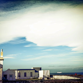 Lighthouse & Ferry by Paul Milligan - Landscapes Travel ( isle of man, scene, architecture, landscape, rural )