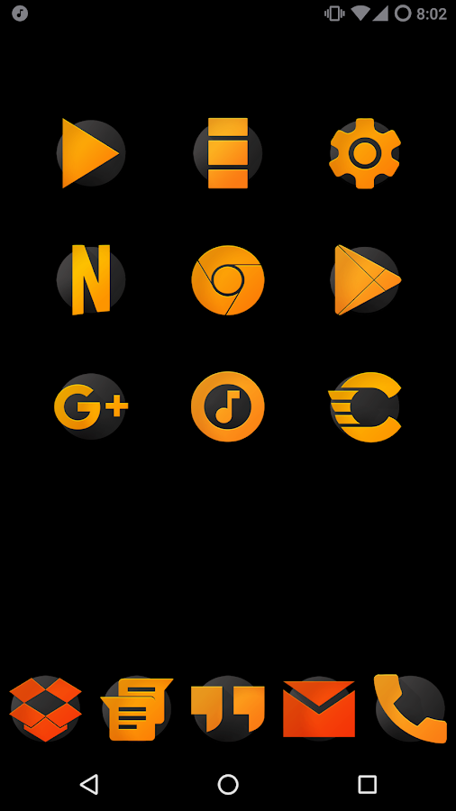 ORANGE - Icon Pack Screenshot 0