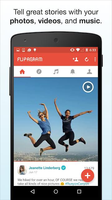Flipagram screenshots