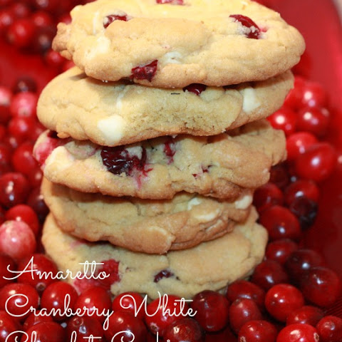 Amaretto Cookie with White Chocolate Chip