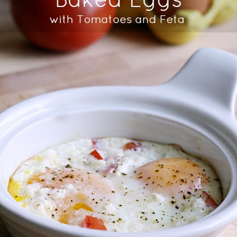 Baked Eggs with Tomatoes and Feta