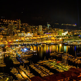 monaco by night HDR by Cédric Nouvel - City,  Street & Park  Night