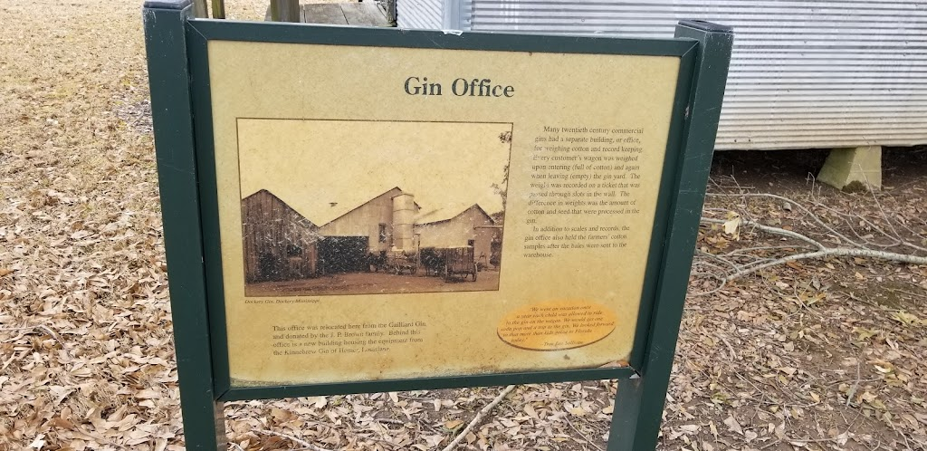 Many twentieth century commercial gins had a separate building, or office, for weighing cotton and record keeping. Every customers wagon was weighed upon entering (full of cotton) and when leaving ...
