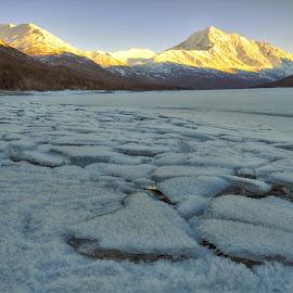 Eklutna Lake by Patricia Phillips - Landscapes Travel ( ice alaska lakes eklutna winter )