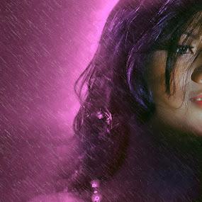 Purple by Vincentius Hioe - People Portraits of Women