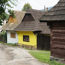Vlkolinec by Sámuel Zalányi - Buildings & Architecture Homes ( village, wooden homes, preserved, vlkolinec, slovakia )