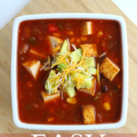 The Easiest Vegetarian Tortilla Soup