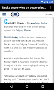 BIG Anaheim Hockey News - screenshot