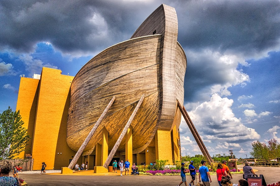 HDR Stern by Pat Lasley - City,  Street & Park  Amusement Parks ( amusement park, noah, ship, noah's ark, boat, ark )